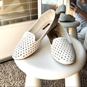 Forever21 white casual flat shoes